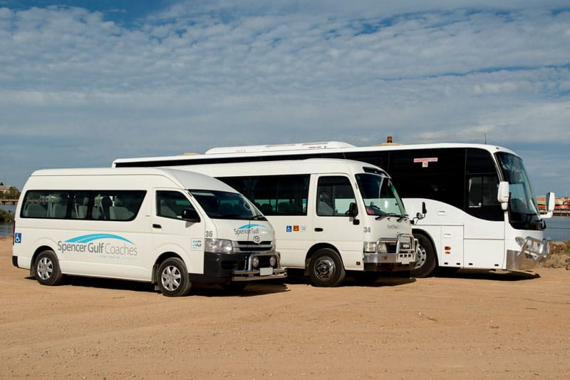 spencer gulf coaches town bus, access bus and upper north passenger bus